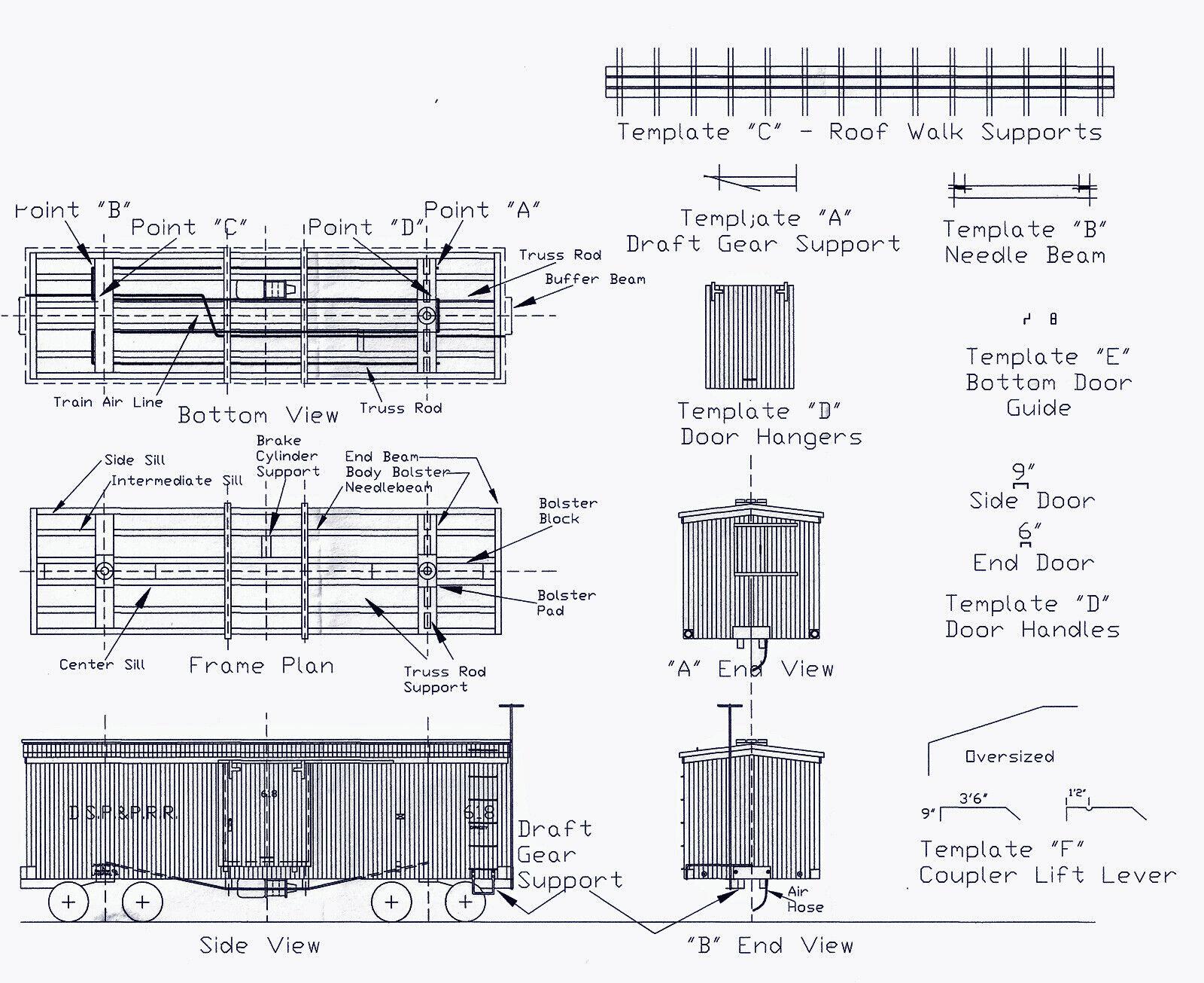 DSP&P BOXCAR & 560-739 As Modified HOn3 Model Railroad Wood Kit TC3202B