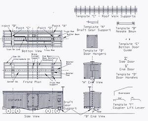 DSP-amp-P-BOXCAR-530-554-amp-560-739-As-Modified-HOn3-Model-Railroad-Wood-Kit-TC3202B