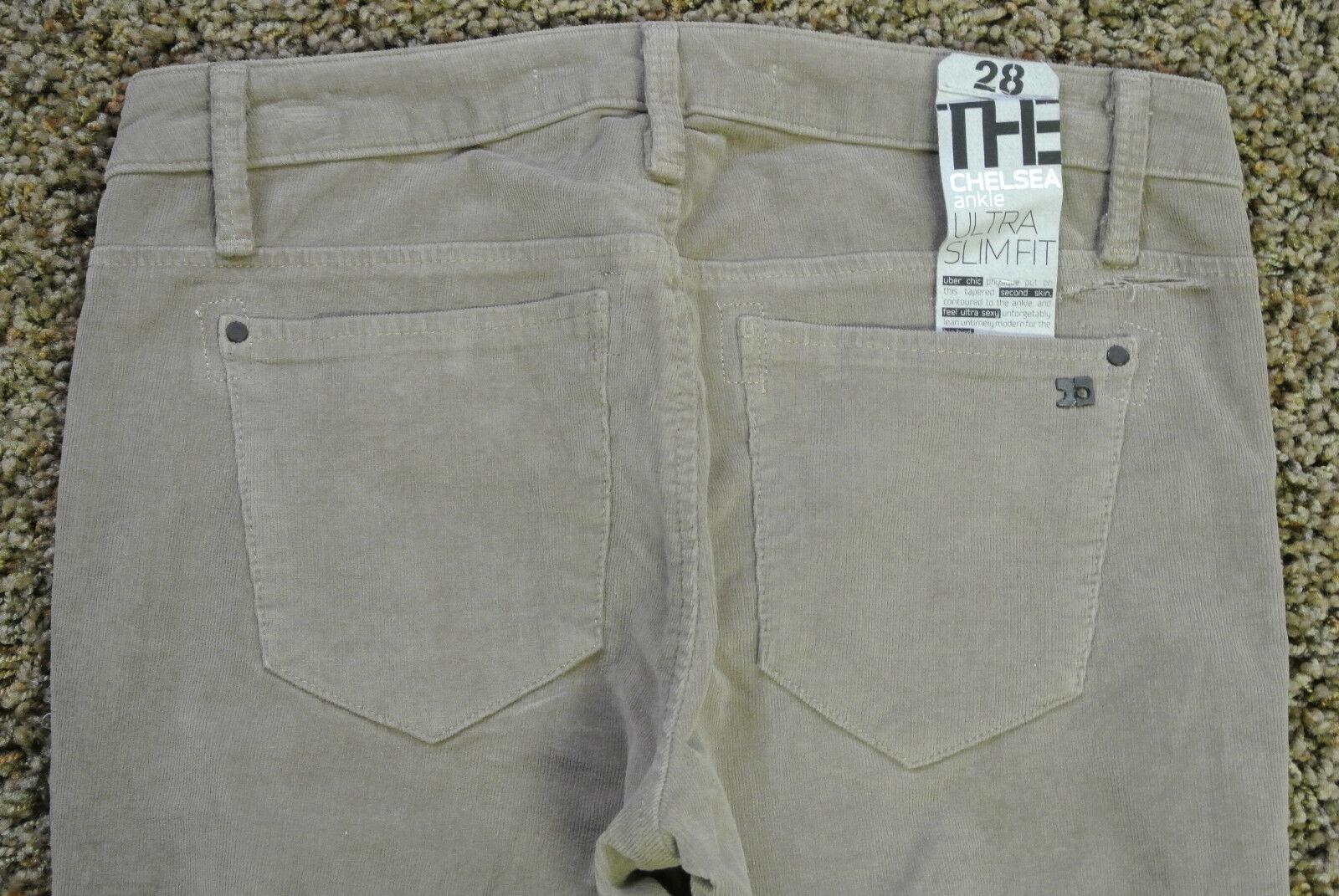 JOE'S CHELSEA Ankle Corduroy JEANS 28X29 NWT Sexy Ultra Slim Fit Walnut Wash