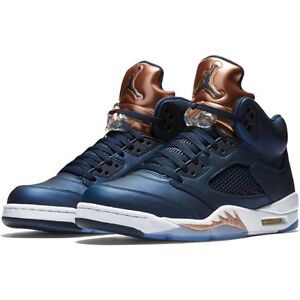 super popular 17b2f debe8 Image is loading Men-039-s-Air-Jordan-5-Retro-OBSIDIAN-