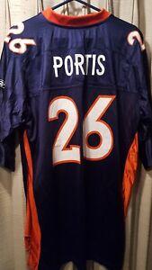 outlet store 77ba3 967fc Vintage Denver Broncos Clinton Portis Reebok NFL FOOTBALL ...