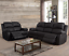thumbnail 1 - NEW Black 2PC Recliner Sofa & Loveseat 4 Seat Recliner - Comfortable & Relaxing