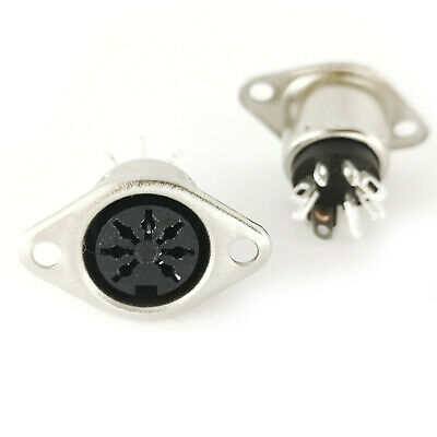 3pol, versilberte Pin REAN 3pol DIN Stecker Rundstecker Kontakte by Neutrik NYS321
