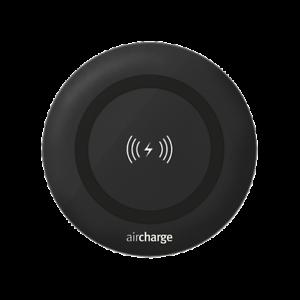Cargador Inalambrico para Viaje Casa Aircharge Qi con 2M de Cable Negro Pequeño
