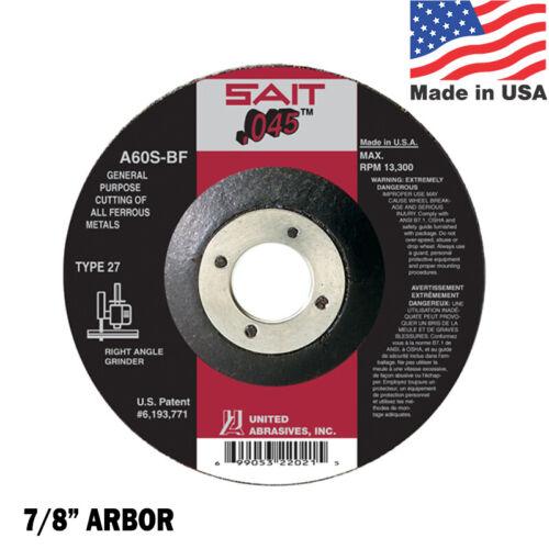 """6/"""" x 7//8/"""" Arbor Cut Off Wheel QTY 10 42 SAIT Cutting Wheel A60S BF Type 27"""