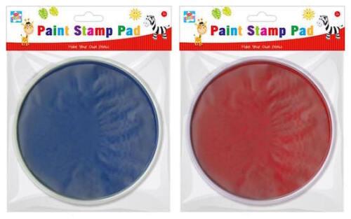 Sello de niños chicos Pintura Almohadilla Almohadilla De Tinta Craft Arte Hazlo tú mismo Rojo Azul Pintura Digital Reino Unido