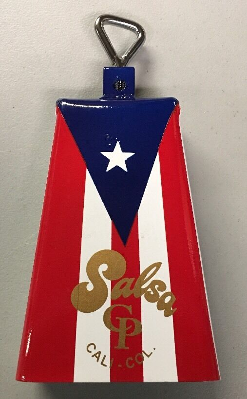 Timbale Cowbell with Puerto Rico Flag Design -Salsa CP 3