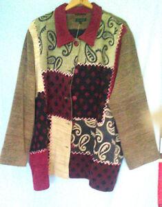 Verschiedene Farben Muster 54 Im Jacke Braun Andere Größe Patchworklook qWOH06