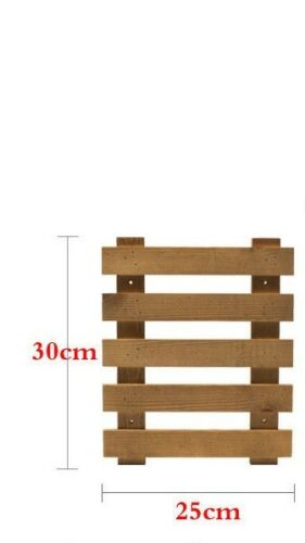 Wooden Indoor Outdoor Garden Planter Flower Pots Stand Wall Hanging Shelves壁挂式花架