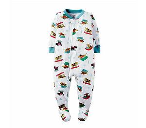 24e087ad0 NWT ☀FOOTED ☀ CARTER S Boys SLEDDING DOGS Pajamas 3T