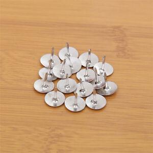 50 pcs round silver push pins notice board map thumb tacks point