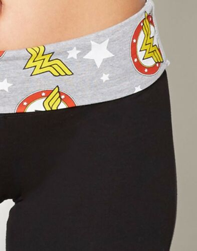 Fold Over Wonder Woman Pants DC Comics Pants Wonder Woman Yoga Pants
