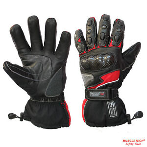 MTECH-Motorbike-Warm-Winter-Gloves-Leather-Gloves-Cordura-Water-Proof-Gloves