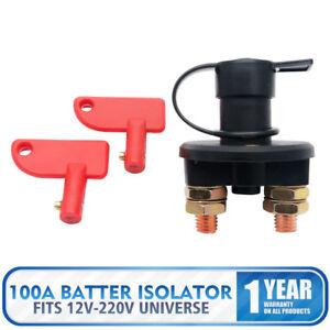 12V-100A-Isolateur-Batterie-Interrupteur-Coupure-Coupe-Cut-off-Voiture-2-Cles