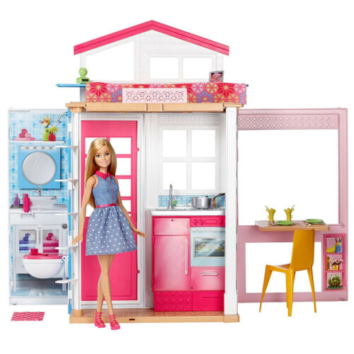 Barbie House 2 Story Dream Furniture Accessories Dollhouse Girls Fun Play New