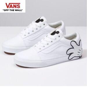 Vans Disney 90th Anniversary Old Skool Mickey White Fashion Sneakers ... 502ab919ed9