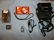 Kodak Easyshare M577 Orange 'Touch' 14mp  5X digital & optical/Complete Package!