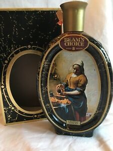 Details about Vintage Jim Beam Collector Whiskey Bottle Jan Vermeer  Milkmaid Kitchen Maid Box