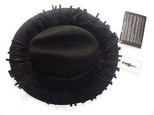 Wide Brim Matta Women Hat Lana Kappa Black Fedora Wool New Felt Nwv0m8nO