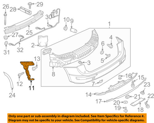 AUDI OEM 09-17 Q5 Rear Bumper-Guide Right 8R0807454C
