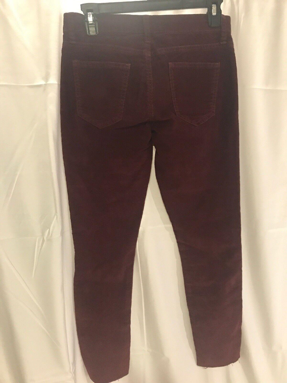 Corriente Elliott nuevo nuevo nuevo con etiquetas  208 la Skinny Jeans Hasta El Tobillo Stiletto Pana [tamaño 25]  F293 4f649c
