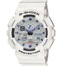 Casio G-Shock GA-100A-7A White Original Mens Watch 200M Diver  GA-100 GA100