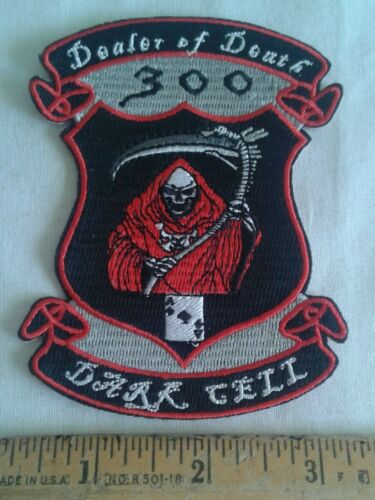Dealer of Death 300 Dark Cell Motorcycle Biker Patch Ace of Spades Grim Reaper