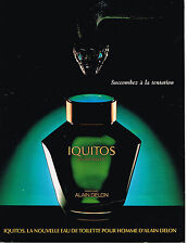 PUBLICITE ADVERTISING 124  1987  IQUITOS  parfum homme ALAIN DELON