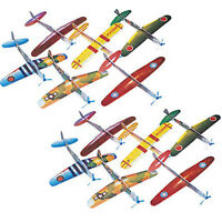 (24) Foam Wwii Airplane Gliders Colorful Toys Child Fun Party Favor Kids