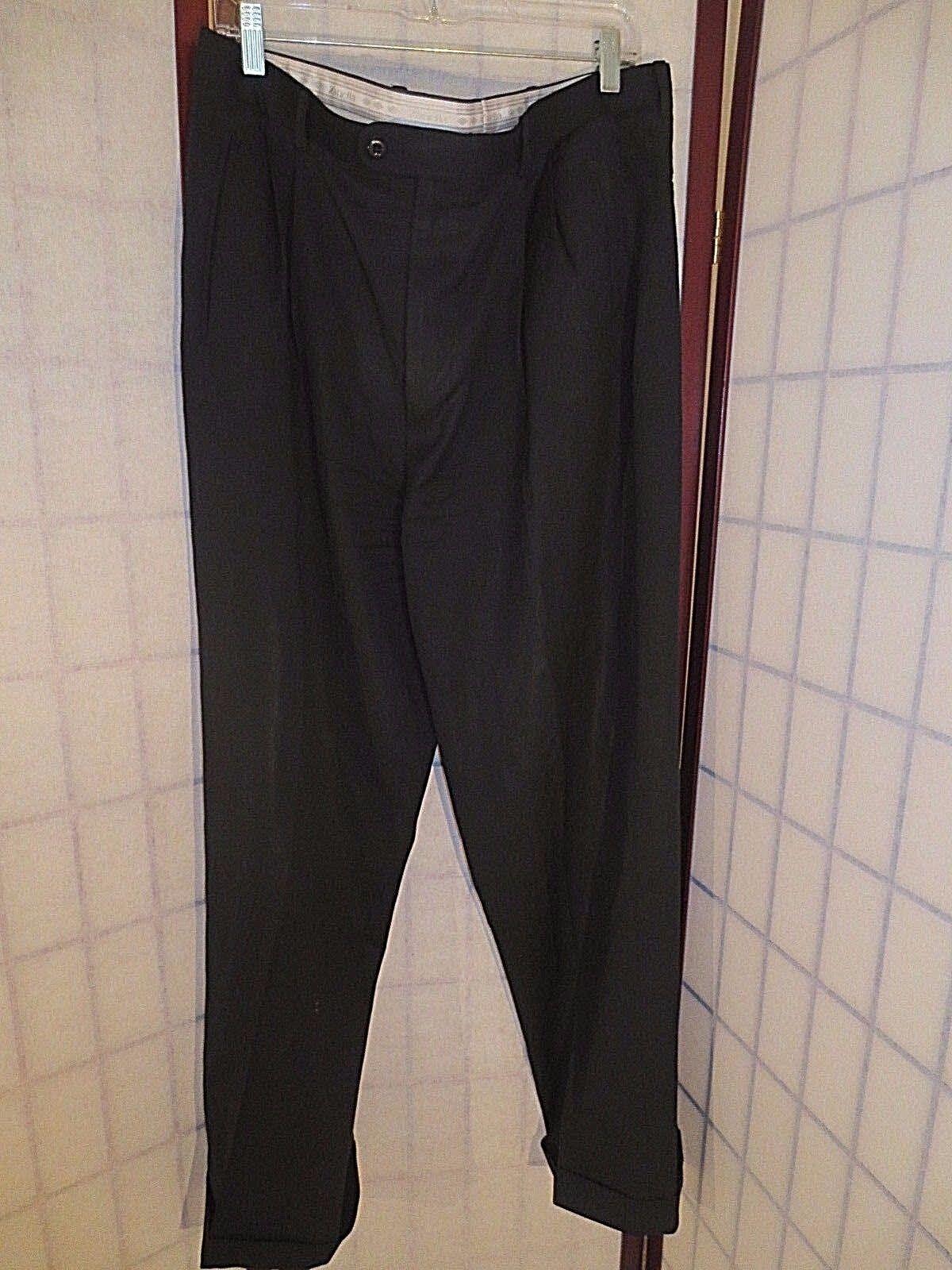 Men's Zanella Duncan Pleated & Cuffed 100% Lightweight Wool Pants 34 x 31.5