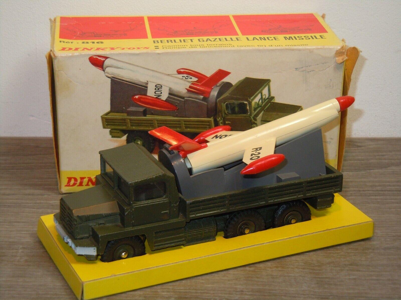 Berliet Gazelle Lance Missile - Dinky Toys 816 France in Box 37593