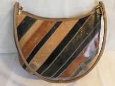 Vtg Varon Shoulder Bag Multicolored Patchwork Snake Skin Size M Vinyl Lining