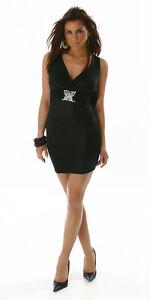 Scollato Glamour Abito Farfalla Sexy Nero Vestito 42 Bijou Strass Fashion 40 qOPAwHg