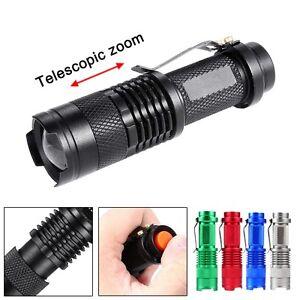3500 lm Q5 14500 AA 3 Modos Zoom LED Linterna Antorcha Lampara Mini policía BB