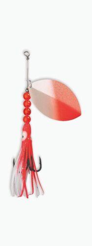 Salmon Spinner McOmie/'s UV Salmon Red//Pearl w//Hoochie #1103-0100