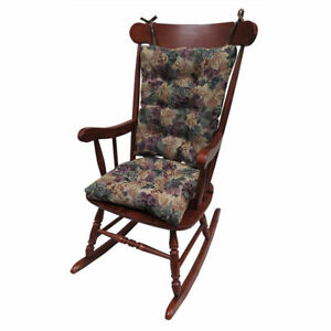 The Gripper Non Slip Cabernet Tapestry Jumbo Rocking Chair Cushions