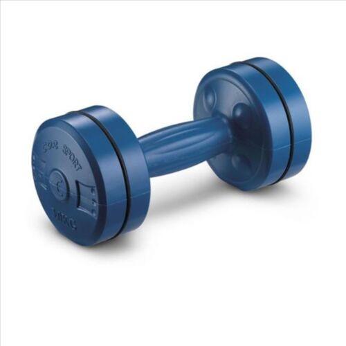 Coppia manubri CORSPORT 3 kg cadauno blu fitness sollevamento pesi palestra