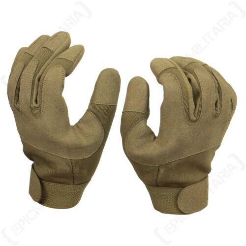 Dark Coyote Gloves Outdoor Work Army Military Padded Airsoft All Sizes New
