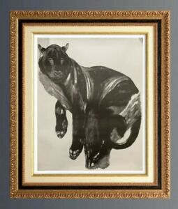 Paul-jouve-1878-1973-large-screen-print-panther-on-branch