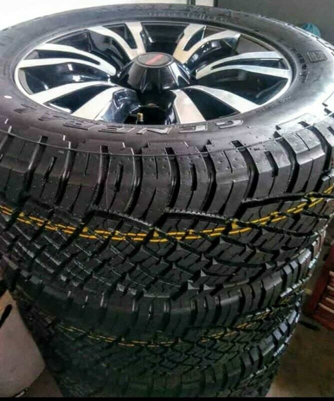 """18"""" Isuzu X-Rider mag with brand new 255/60/18 General Grabber AT to use for spare R3750."""