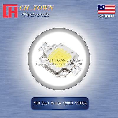 1Pcs 10W Watt High Power Cool White 10000-15000k SMD LED Chip COB Lamp Lights