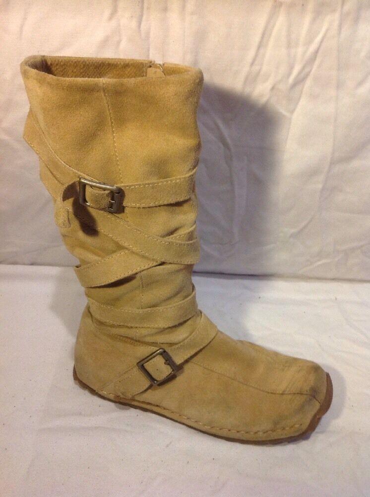Aldo Beige Mid Calf Suede Boots Size 36