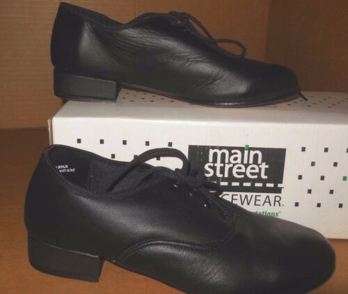 NW//BOX Leather Character Ballroom Oxfords Black Leather Sole unisex Runs small