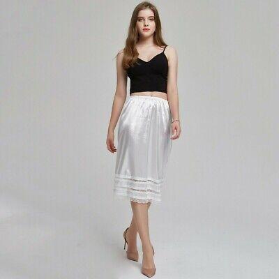 Damen Polyester Unterrock Hüfte Halber Slip Weiß