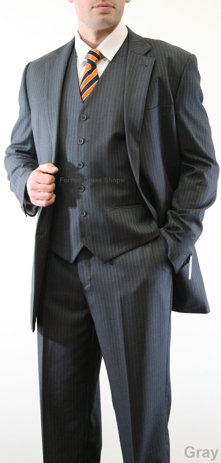 Groomsmen S Pinstripe Suit Jacket Vest Pants Father Of The