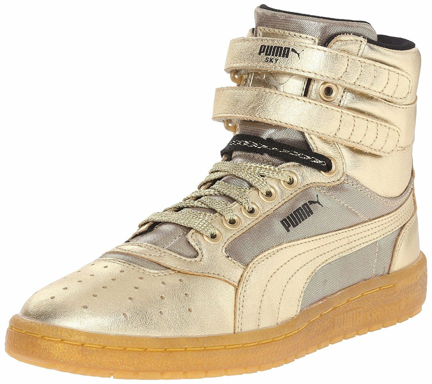 Puma Sky II Hi Metallic gold Women Sz 6.5 - 8