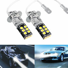 2x Bright White H3 15W Canbus High Power Car Fog Driving DRL LED Light Bulb Lamp
