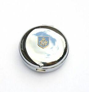 RAF Shield Travel Chrome Alarm Clock Ideal Army Gift BK11
