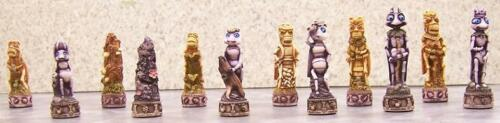 Chess Set Pieces Bugs and Insects light NEW