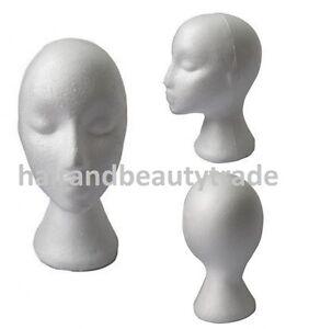 Female Styrofoam / Foam Mannequin Head / Stand Model Display FREE FAST TRACKED!!